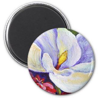 Magnolia & Azaleas Round Magnet