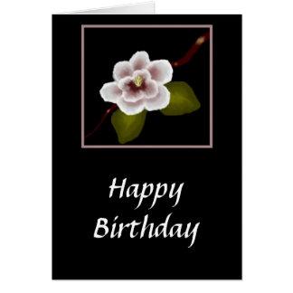 Magnolia Birthday Card (Large Print)