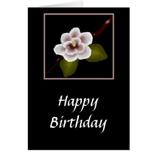 Magnolia Birthday Card (Large Print)