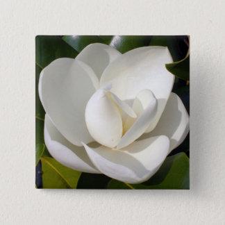 Magnolia Bloom 15 Cm Square Badge