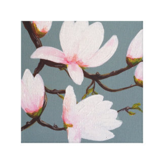 Magnolia Blossom Gallery Wrapped Canvas