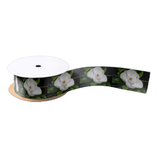 Magnolia Blossom Ribbon Satin Ribbon