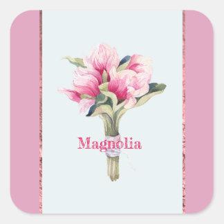 magnolia bouquet square sticker