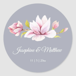 Magnolia Charm Floral Wedding Stickers
