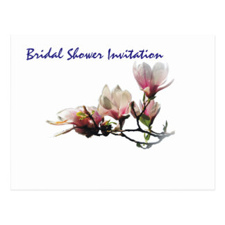 Magnolia Cheap Inexpensive Bridal Shower Party Postcard