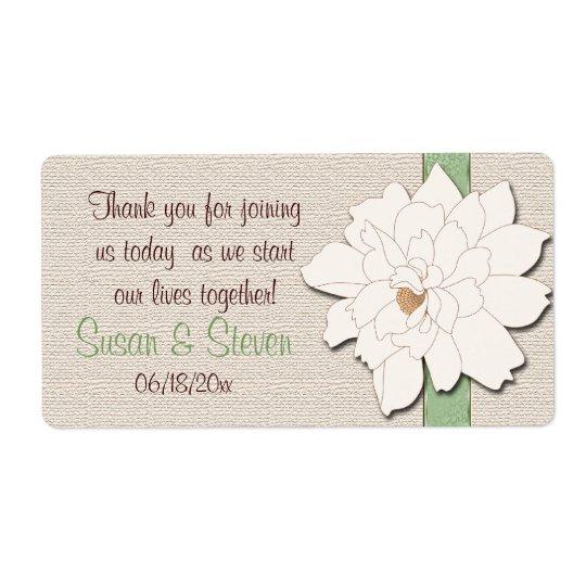 Magnolia Dreams Favour Sticker Shipping Label