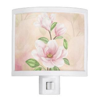 Magnolia Floral Peach And Cream Night Light