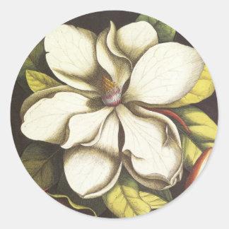 Magnolia Floral Sticker Envelope Seal