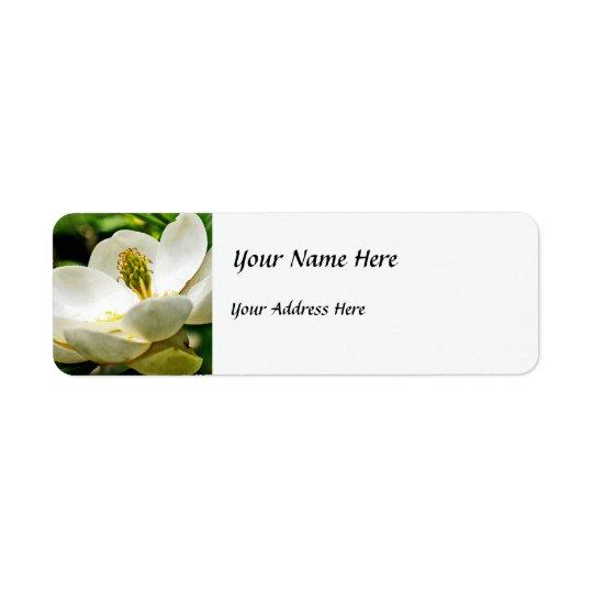 Magnolia Flower Close Up Return Address Label
