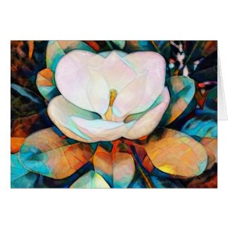 Magnolia - Flower Greeting Card