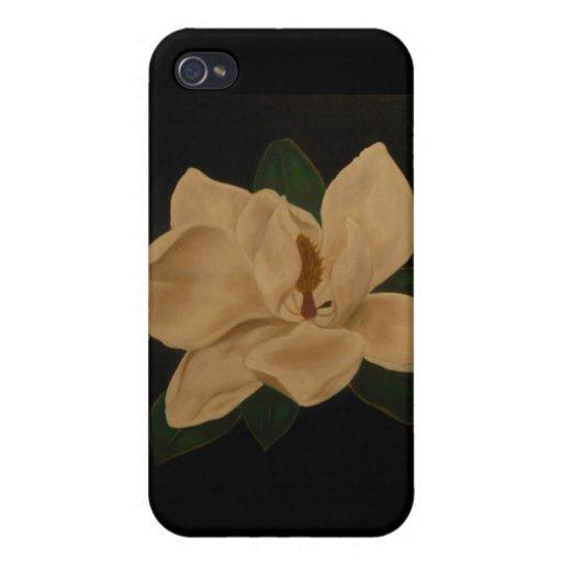 Magnolia flower iPhone case Cases For iPhone 4