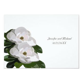 Magnolia Flower Modern Wedding Invitation