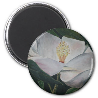 magnolia flower oil painting magnet