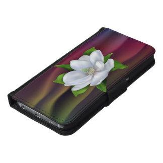 Magnolia Flower Samsung Galaxy S6 Wallet Case