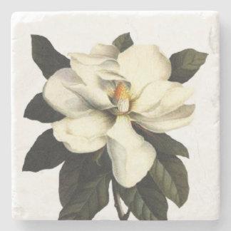 Magnolia Flower Square Stone Beverage Coaster