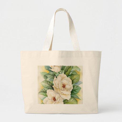 Magnolia Flower Watercolor Art - Multi Jumbo Tote Bag
