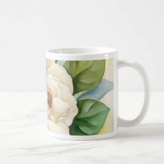 Magnolia Flower Watercolor Painting Coffee Mug