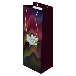 Magnolia Flower Wine Gift Bag