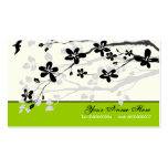 Magnolia flowers black grey floral business cards
