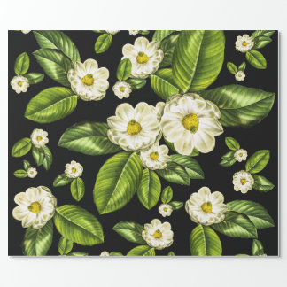 Magnolia Flowers Botanical Wrapping Paper