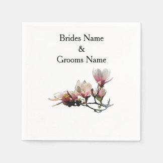 Magnolia Modern Simple Elegant WeddingIdeas Disposable Napkin