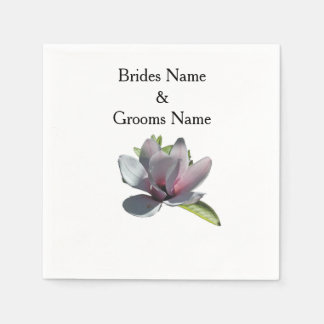 Magnolia Modern Simple Elegant WeddingIdeas Disposable Serviette