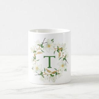 Magnolia Monogram Coffee Mug