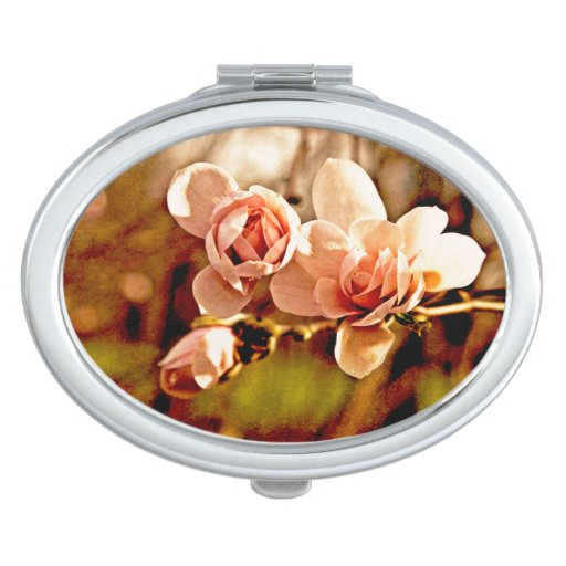 Magnolia Mood in Pink Travel Mirrors