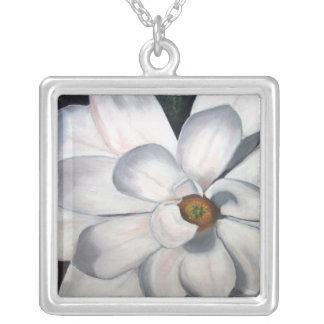 Magnolia Square Pendant Necklace