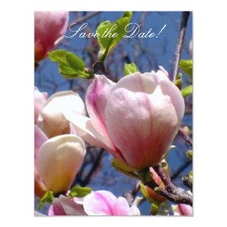 Magnolia Save-the-Date Cards 11 Cm X 14 Cm Invitation Card