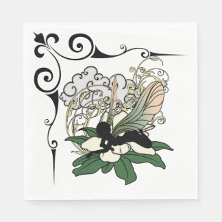 Magnolia Shadow Fairy Disposable Serviette