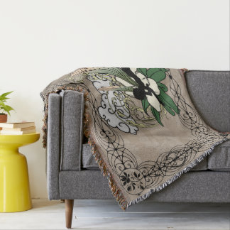 Magnolia Shadow Fairy Throw Blanket