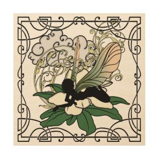 Magnolia Shadow Fairy Wood Print