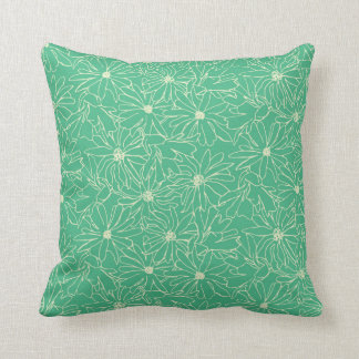 magnolia stellata green cream cushion
