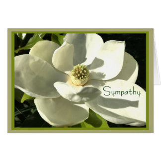Magnolia Sympathy Card for Anyone-White/Green