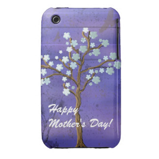 Magnolia Tree & Blue Background Blackberry Bold iPhone 3 Case-Mate Case