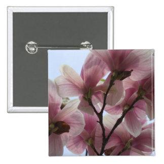 Magnolia Tree in Bloom Square Pin