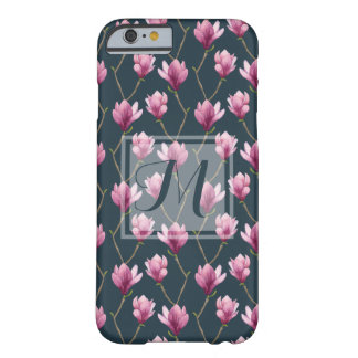 Magnolia Watercolor Floral Pattern Barely There iPhone 6 Case