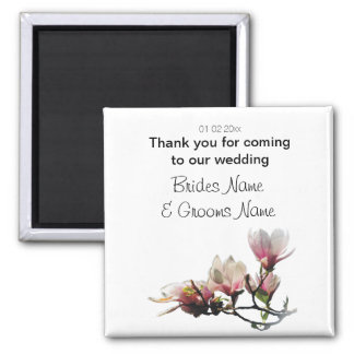 Magnolia Wedding Souvenirs Keepsakes Giveaways Magnet