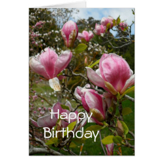 Magnolias Birthday Card