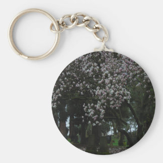 Magnolias Forever Key Ring