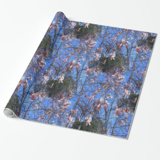 Magnolias in the sky... wrapping paper