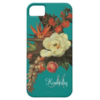 Magnolias n Bird of Paradise w Rose Orange iPhone 5 Covers