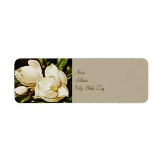Magnolias Wedding Return Address Labels