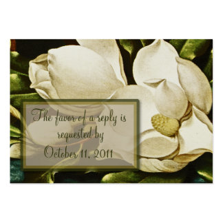 Magnolias Wedding RSVP Reply Card Pack Of Chubby Business Cards