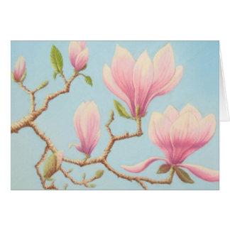 Magnolias, Wisley Gardens, Surrey In Pastel Greeting Card
