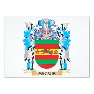 Magnus Coat of Arms - Family Crest 5x7 Paper Invitation Card