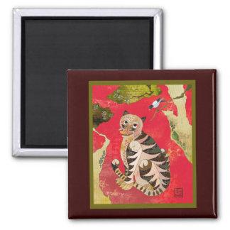 Magpie and Tiger: Korean Folk Art Magnet
