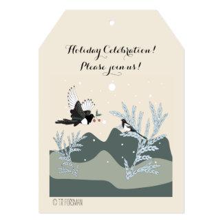 magpie Christmas 5x7 Invitation Tag