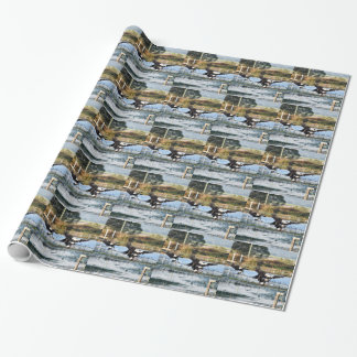 MAGPIE GEESE QUEENSLAND AUSTRALIA WRAPPING PAPER